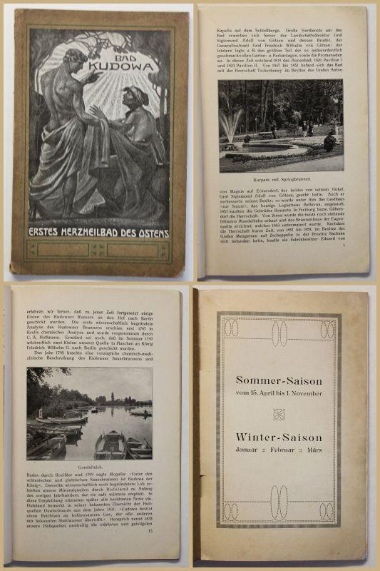 Original Prospekt Bad Kudowa um 1906 Kurort Reise Ortskunde Geografie sf