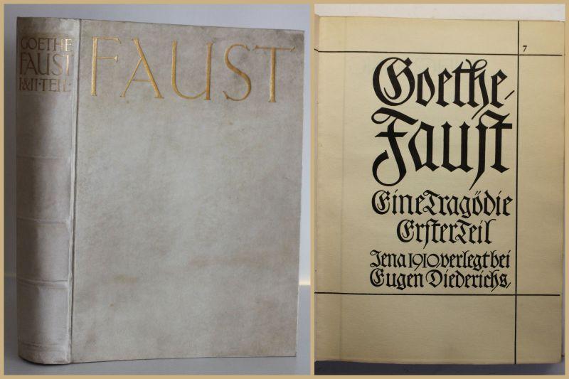 Goethe, J. W Faust - Eine Tragödie. 2 Tle in 1 1910 Mephisto Klassiker Magie sf
