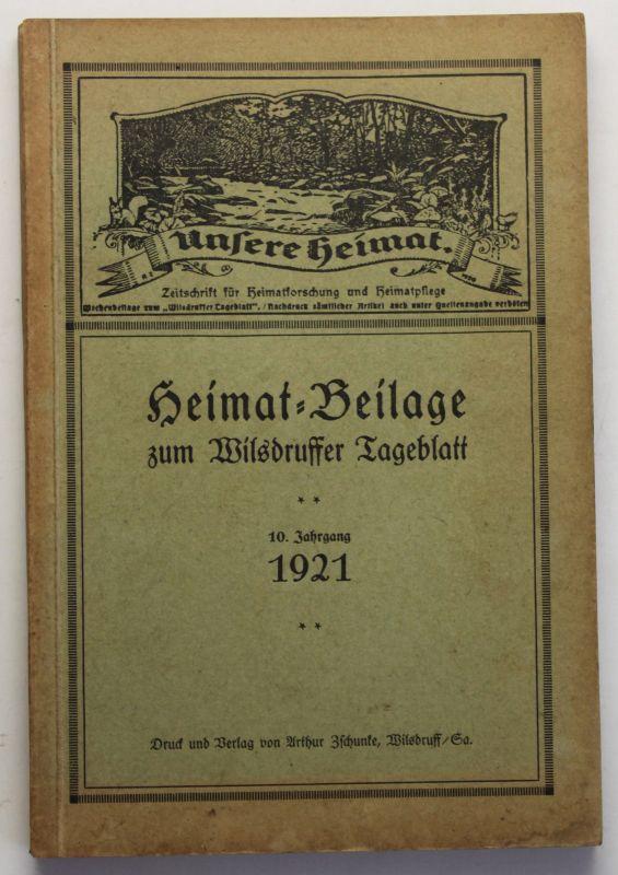Unsere Heimat Beilage zum Wilsdruffer Tageblatt 1921 Sachsen Geschichte sf