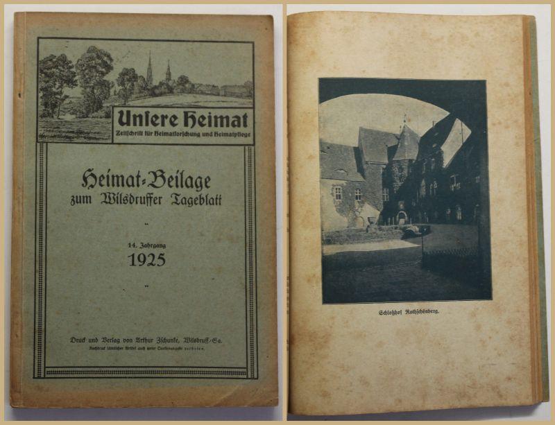 Unsere Heimat Beilage zum Wilsdruffer Tageblatt 1925 Sachsen Geschichte sf