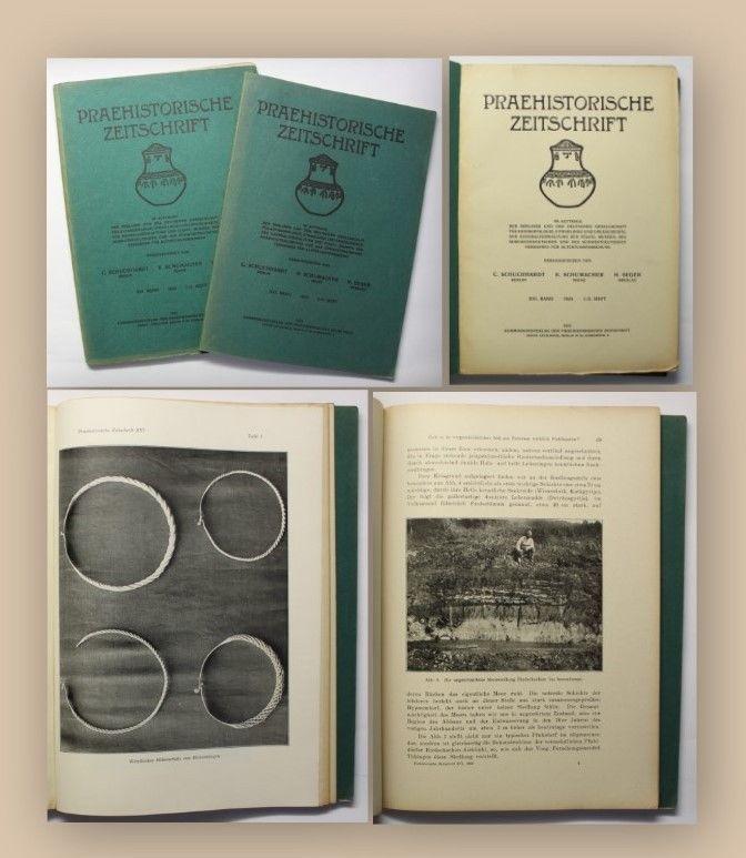 Schuchhardt Praehistorische Zeitschrift Heft 1-4 in 2 1925 Geschichte Wissen xy