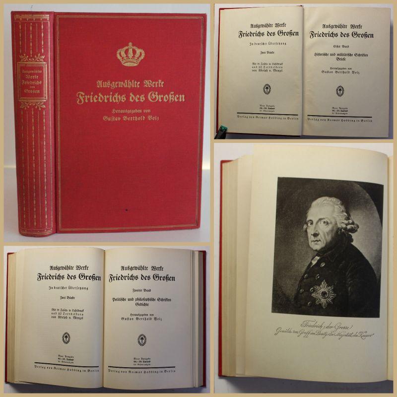 Volz Ausgewählte Werke Friedrichs des Großen 1916 Geschichte Gesellschaft sf