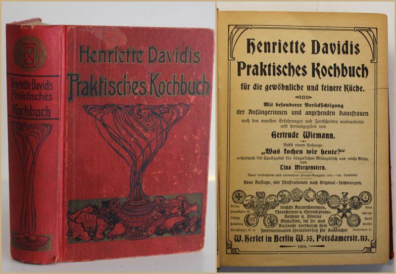 Wiemann Praktisches Kochbuch für die gewöhnliche & feinere Küche 1909 Kochen sf