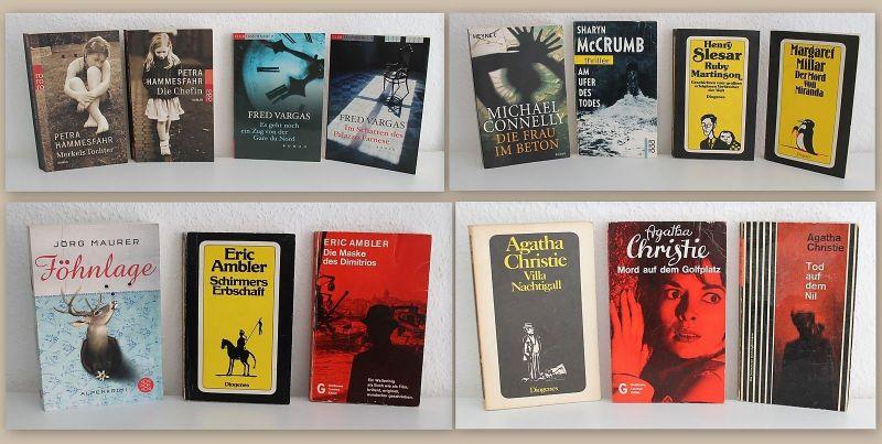 Konvolut Paket 14 Kriminalromane Agatha Christie Fred Vargas Eric Ambler u.W. xz