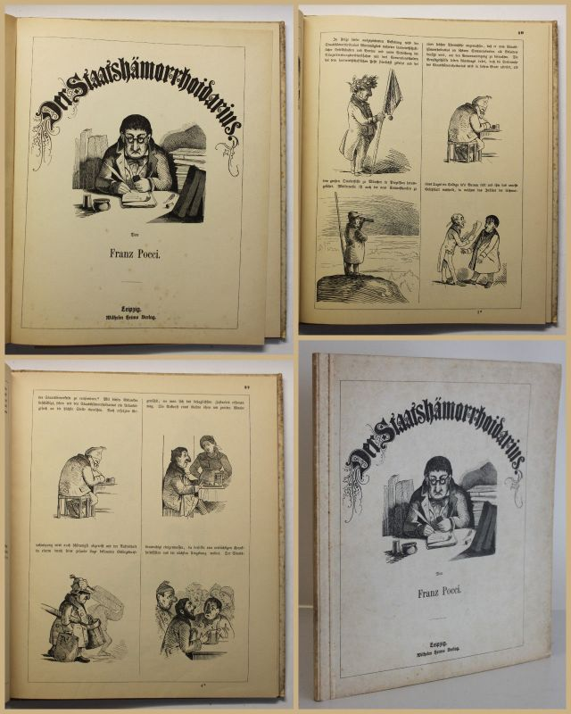 Pocci Der Staatshämorrhoidarius um 1930 Nachdruck Belletristik Geschichte sf