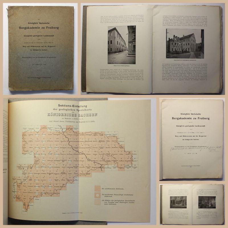 Die Königlich Sächsische Bergakademie zu Freiberg 1904 Geschichte Sachsen xz