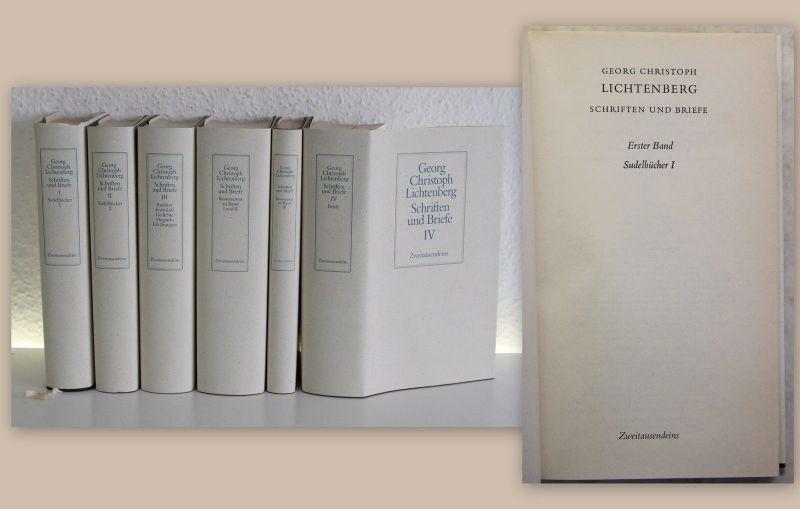 Georg Christoph Lichtenberg Schriften und Briefe 6 Bände 1994 Sudelbücher xz