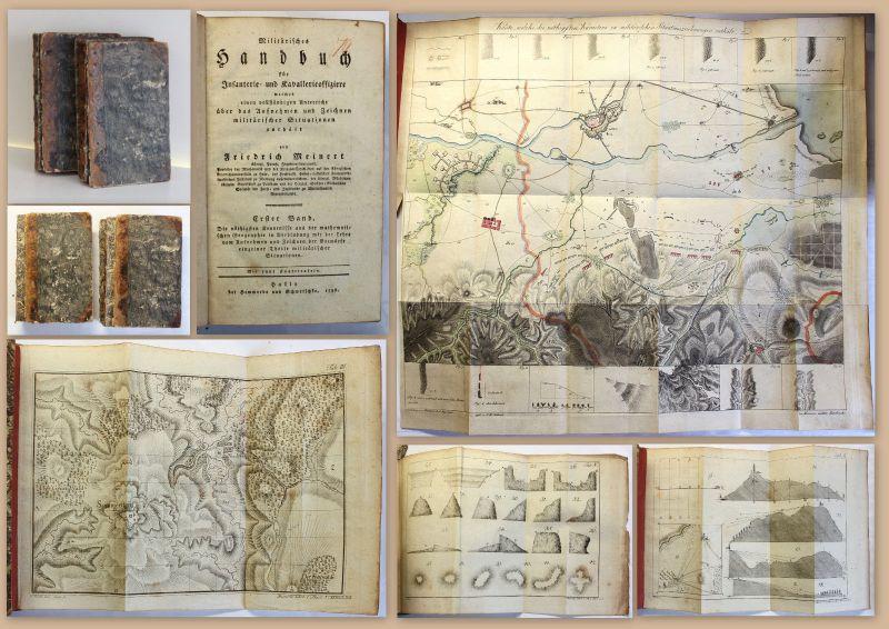 Meinert Militärisches Handbuch für Infanterie- & Kavallerieoffiziere 1798 xz