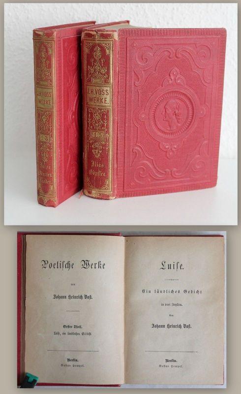 Johann Heinrich Voß. Poetische Werke Band 1-5 (in 2) um 1900 -Gedichte Lieder xz