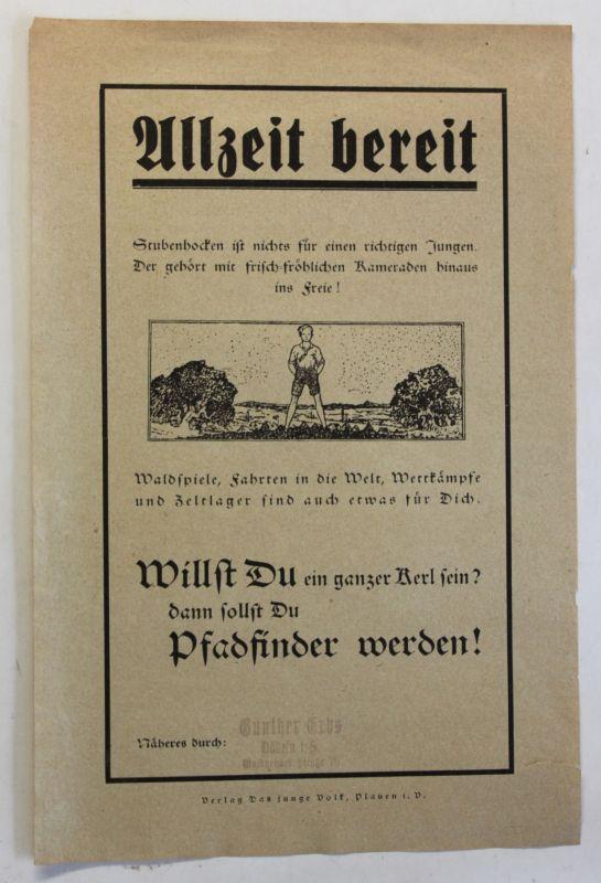 Orig. Prospekt/ Flugblatt Pfadfinder