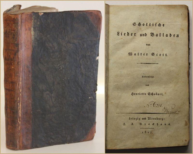 Scott/ Schubart Schottische Lieder und Balladen 1817 Kunst Kultur Musik sf