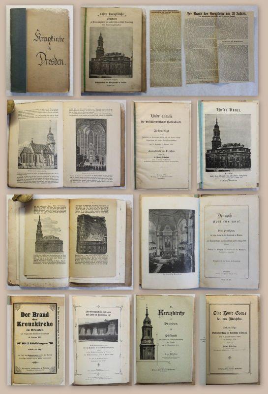Sammlung 8 seltene Kleinschriften Kreuzkirche Dresden 1892-1900 Geschichte xz
