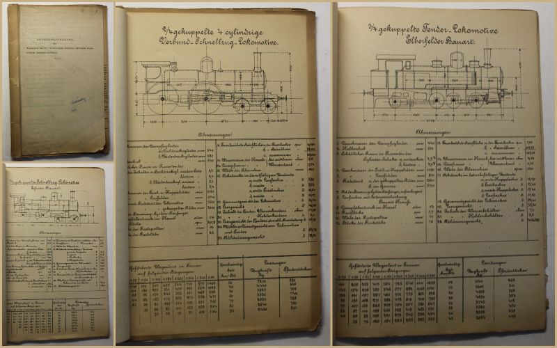 Zusammenstellung Ergebnisse der verschiedenen Lokomotiv-Gattungen um 1935 sf