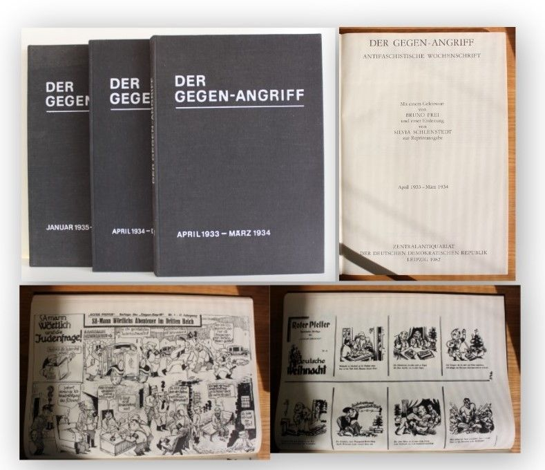 Der Gegen-Angriff Wochenschrift 1933-1936 3 Bde Reprint 1982 Geschichte xy