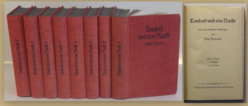 Henning Tausend und eine Nacht um 1900 8 Bände Belletristik Klassiker sf