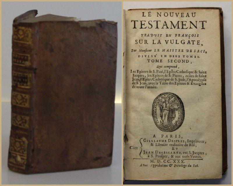 Le Nouveau Testament Traduit Francois Sur Vulgate 1730 Religion Französisch sf