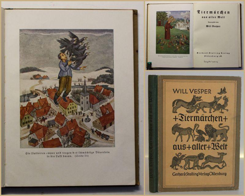 Vesper Tiermärchen aus aller Welt 1928 Literatur Geschichten Erzählungen sf