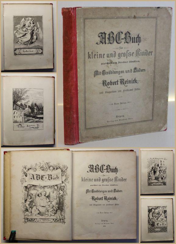 Reinick ABC-Buch für kleine & große Kinder Mit Erzählungen & Lieder 1876 sf