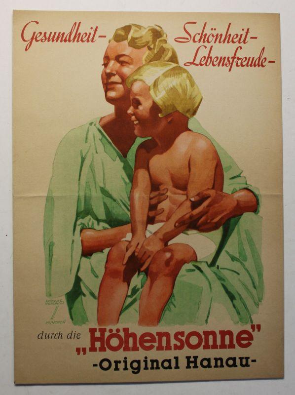 Original Prospekt Gesundheit-Schönheit-Lebensfreude um 1936 Werbung Reklame sf