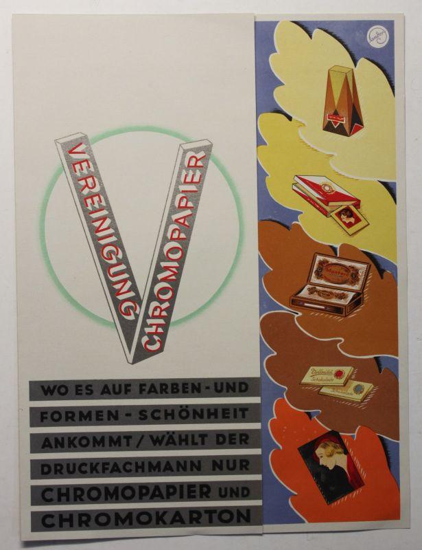 Original Prospekt Vereinigung Chromopapier um 1935 Werbung Reklame sf