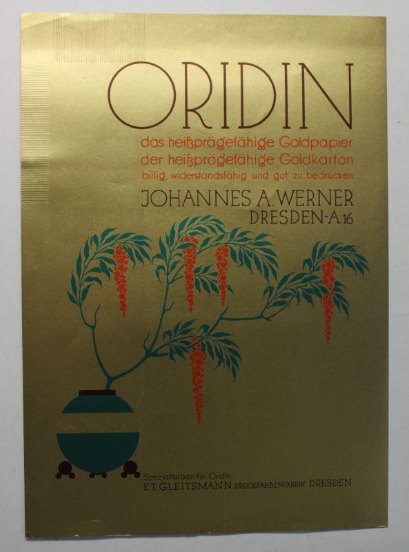 Original Prospekt Oridin das heißprägefähige Papier um 1930 Werbung Reklame sf