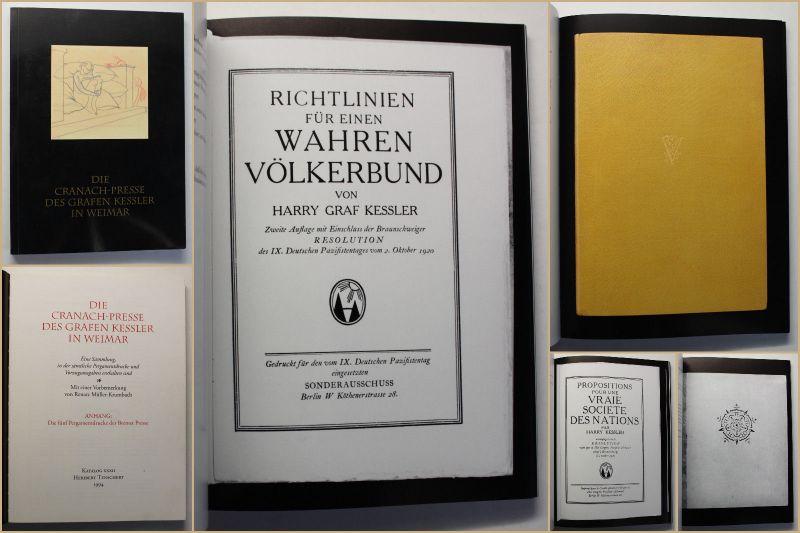Müller-Krumbach Die Cranach-Presse des Grafen Kessler in Weimar 1994 Katalog sf