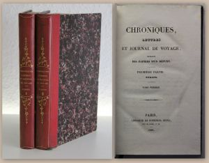 Chroniques Lettres et Journal de Voyage extraits des Papiers d´un Defunt 1836