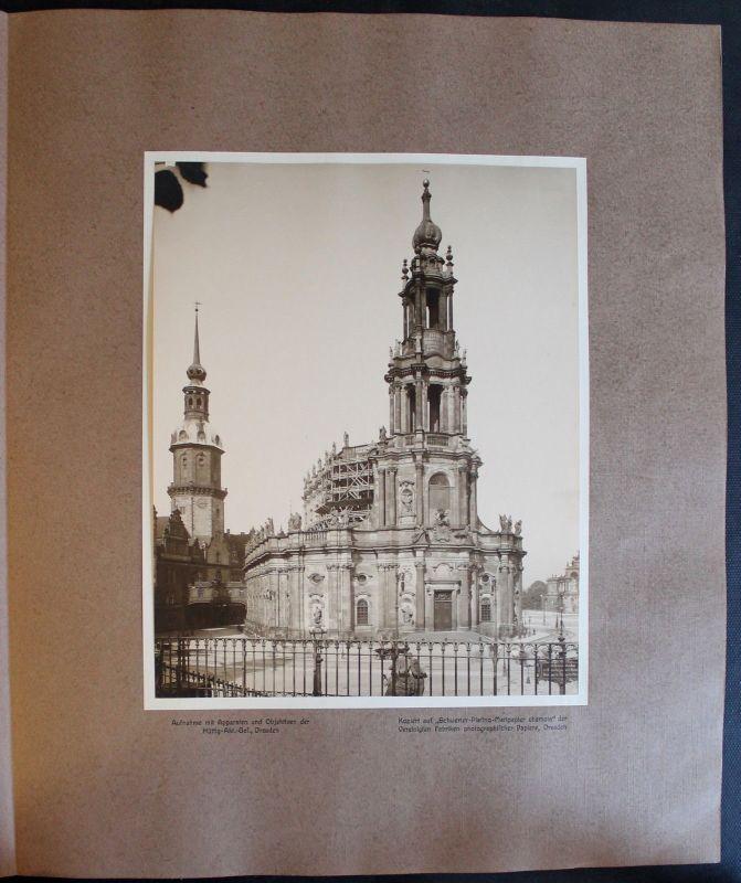 Fotografie Katholische Hofkirche 1908 Foto Dresden Sachsen Architektur xz