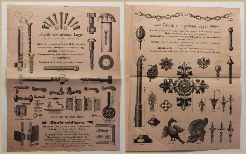 Original Prospekt Bruno Mädler 1895 Katalog Werbung Werkzeug Handwerk sf 0