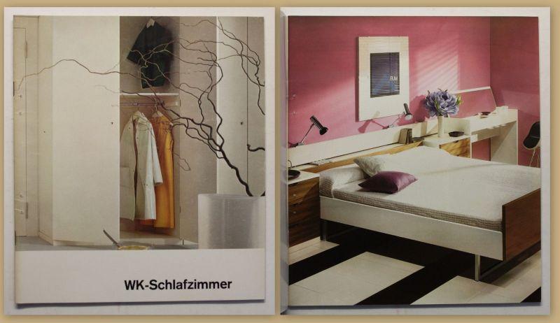 Original Möbelkatalog Wk Schlafzimmer um 1970 Inneneinrichtung Sessel Sofa sf