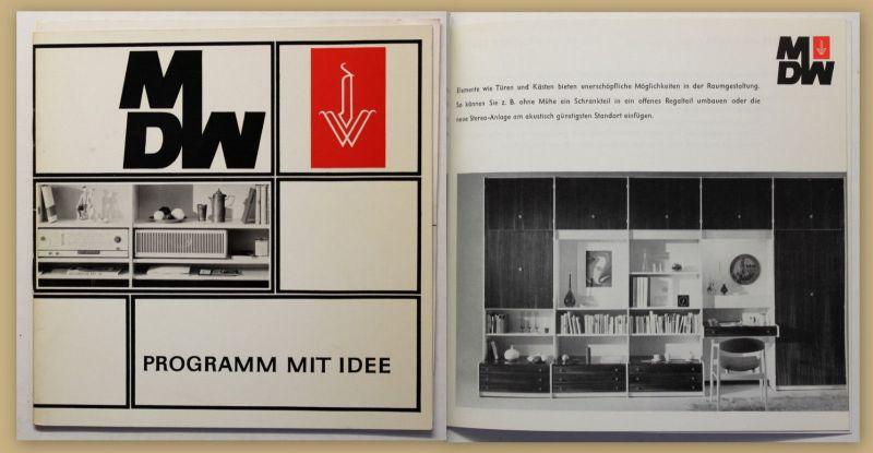 Original Möbelkatalog von MDW- Programm 1967 Dresden VEB Inneneinrichtung sf