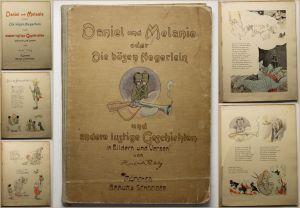 Rikly Daniel und Melanie oder Die bösen Negerlein um 1900 Geschichten Kinder sf