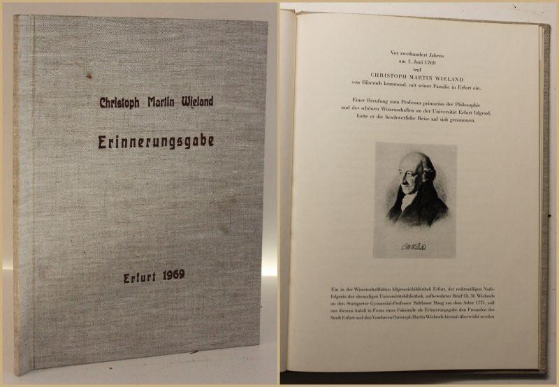 Christoph Martin Wieland Erinnerungsgabe 1969 Philosoph Philosophie sf