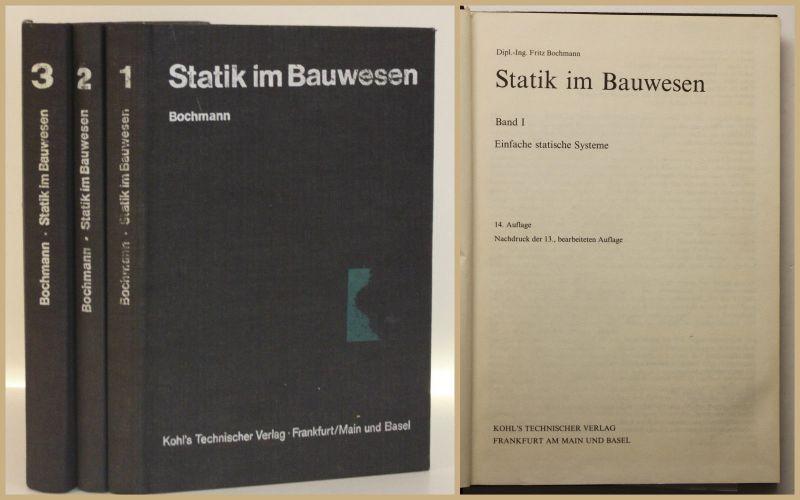 Bochmann Statik im Bauwesen 3 Bde 1981Studium Wissen Ingenieurwissen sf