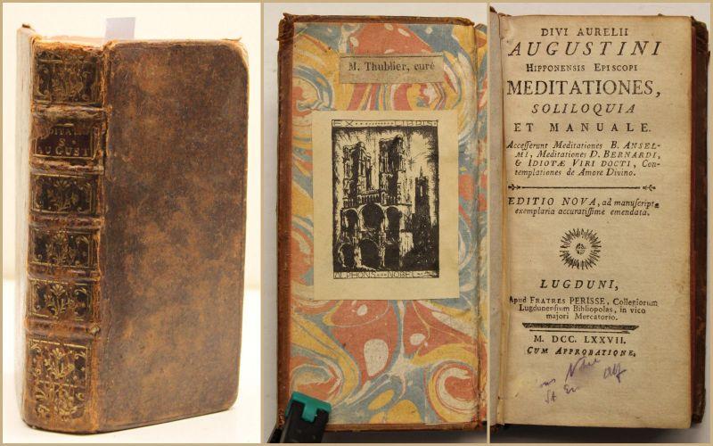Divi Aurelii Augustini Hipponensis Episcopi Meditationes et Manuale 1777 sf