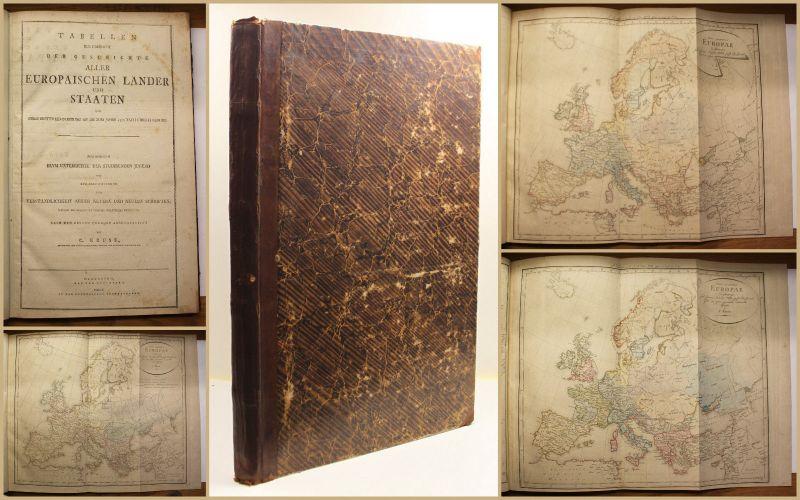 Kruse Atlas & Tabellen zur Übersicht der Geschichte um 1802 Europa Historisch sf