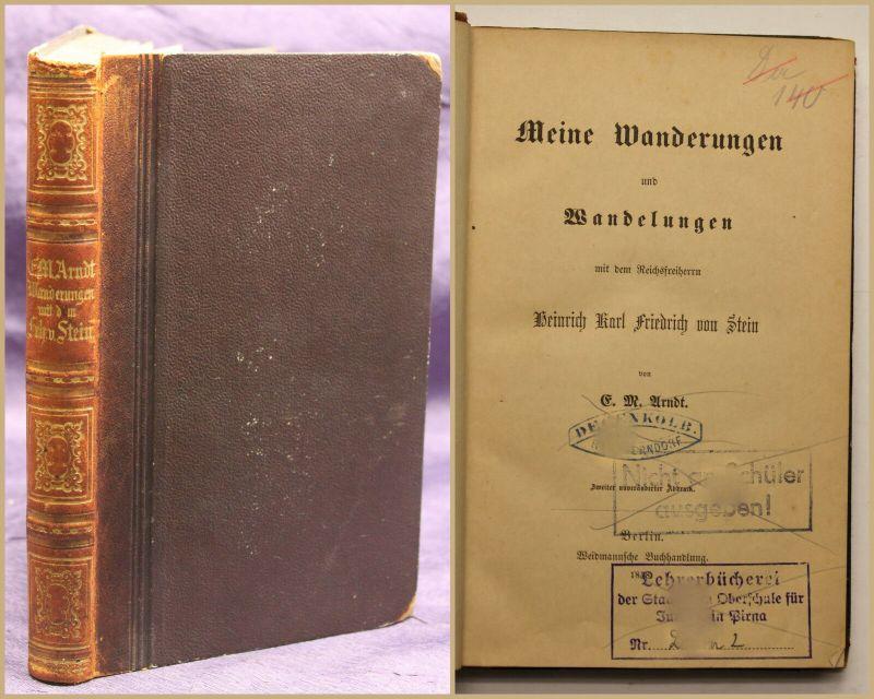 Arndt Meine Wanderungen und Wandelungen 1858 Geografie Geographie Geschichte sf