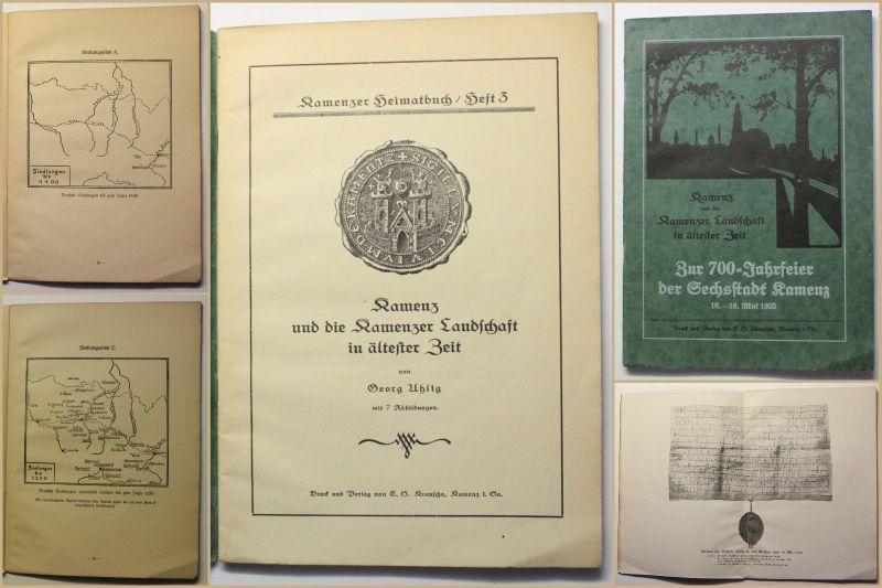 Uhlig Kamenz und die Kamenzer Landschaft in ältester Zeit 1925 Sachsen xy