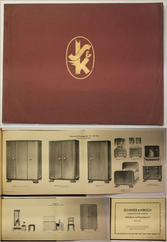 Original Katalog von Schäfer & Kirsch Möbelfabrik Schlafzimmermöbel um 1930 sf