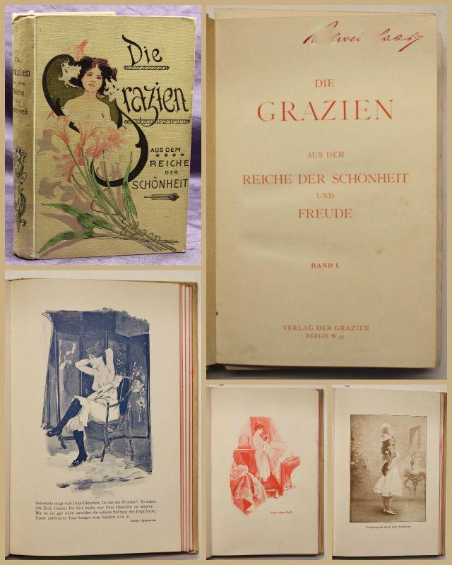 Die Grazien aus dem Reiche der Schönheit und Freude Band 1 um 1900 sf