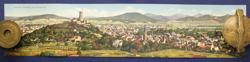 Kolorierte Lithografie Panorama vom Godesberg AK 1910 Chromolithographie sf