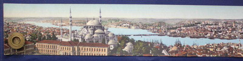 Kolorierte Lithografie Panorama von Constantinopel AK 1910 Chromolithographie sf