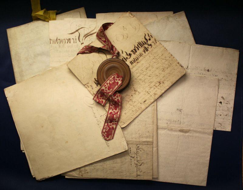 Sachsen u.a. - Sammlung von 12 Lehr- und Geburtsbriefen 1723-1832 Briefe sf