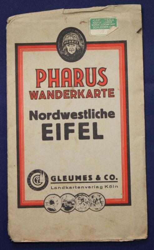 Pharus-Plan Eifel um 1925 Maßstab 1:80000 Stadtplan mit Straßenverzeichnis sf