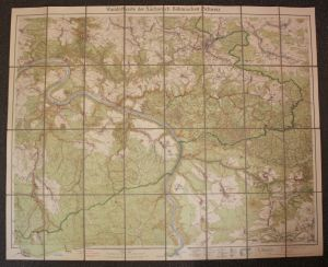 Wanderkarte der Sächsisch-Böhmischen Schweiz 1926 Landeskunde Geografie sf