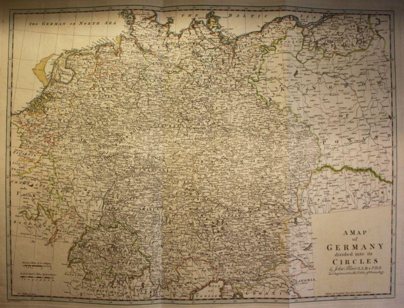 Kolor. Kupferstichkarte Thomas Kitchin bei Blair A Map of Germany um 1780 sf