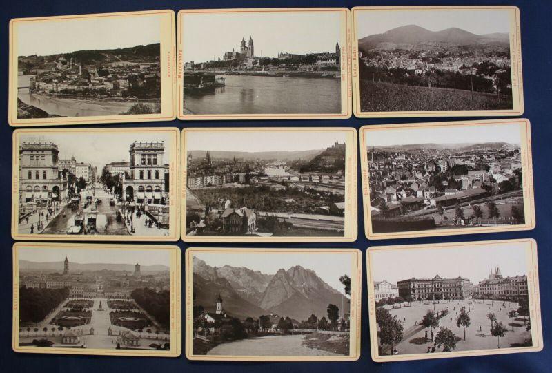 15 Orig. CDV's ua. Der Rhein, Magdeburg, Kassel Römmler & Jonas 1894-97 sf