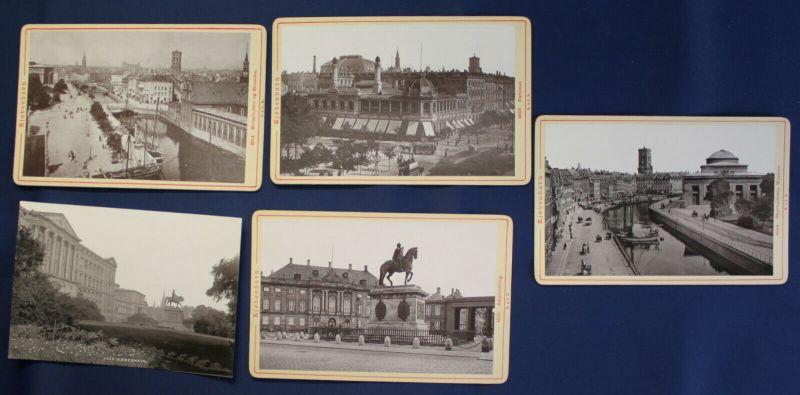 4 Orig. CDV's von Kopenhagen Nr. 4501,4506,4514,4523 Römmler & Jonas 1890 sf