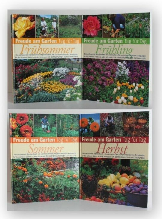 Konvolut Freude am Garten Tag für Tag 4 Bde 1999 Gartenbau Botanik Pflanzen xy