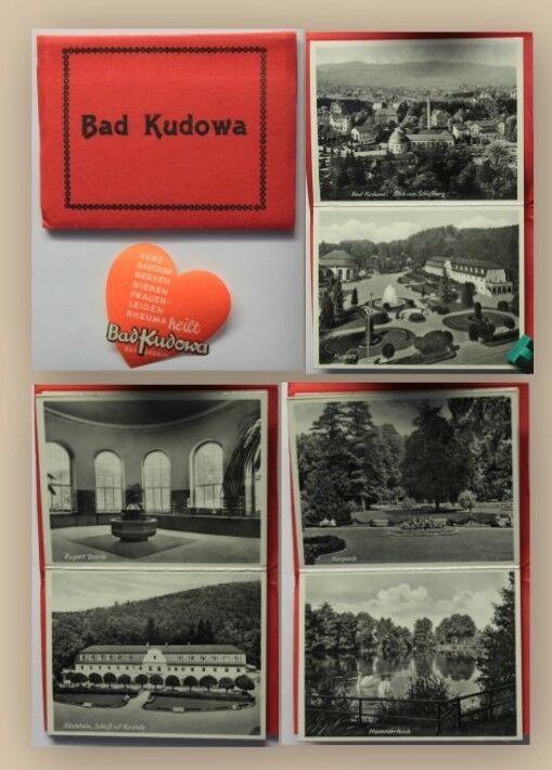 Leporello 10 Ansichten mit seltener Werbemarke um 1930 Kurort Polen xy